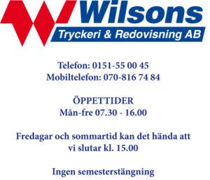 öppettider Wilsons